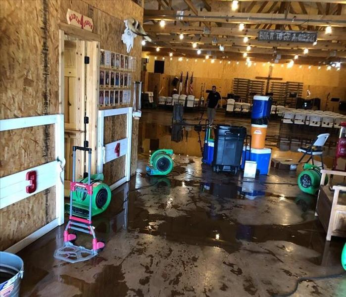 Auditorium of Cowboy Church Water Damage