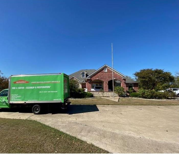 SERVPRO Box Truck In Front of the House