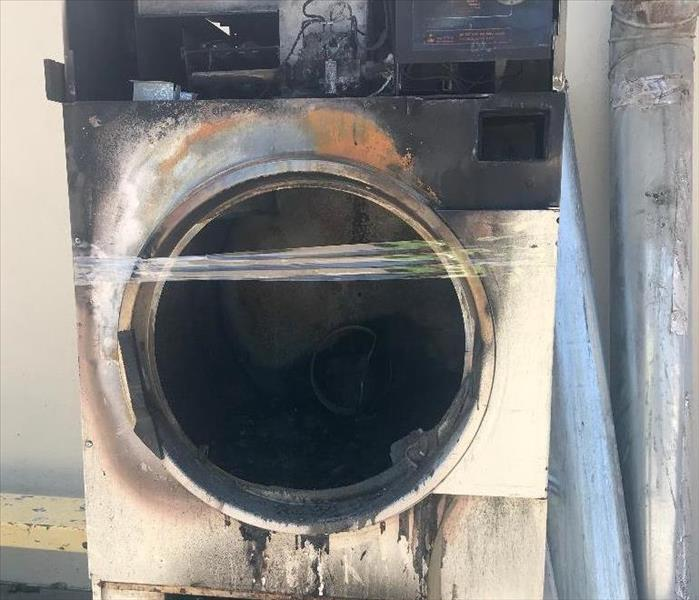 Image of dryer that started a fire in a home