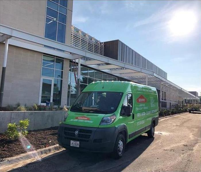 Our SERVPRO van in front of commercial building