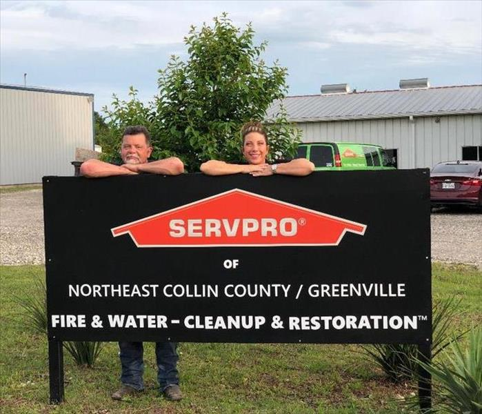 SERVPRO sign in front of new location