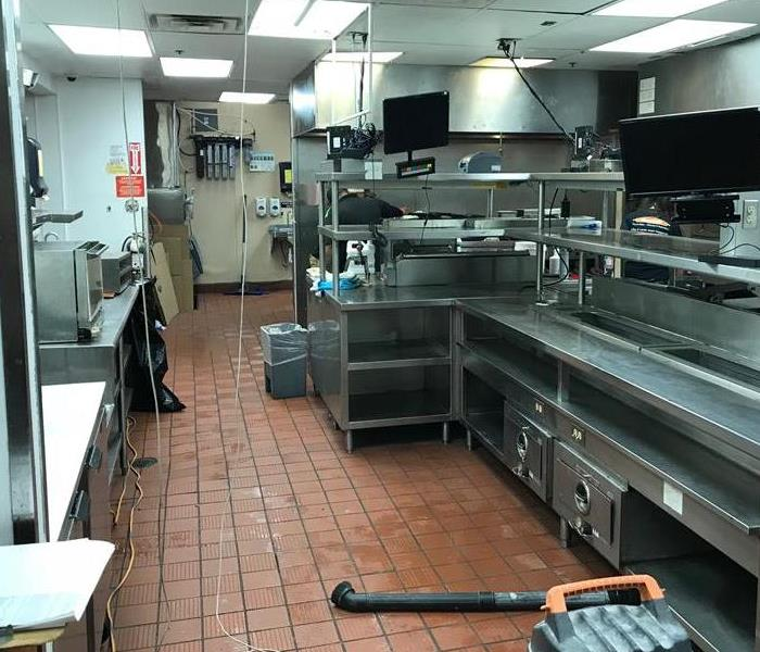 Fire Cleanup of Commercial Restaurant Kitchen